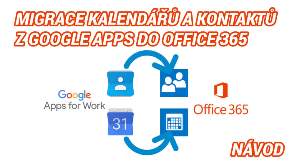 Migrace kontaktů a kalendáře z Google Apps do Office 365 – jednoduchý návod