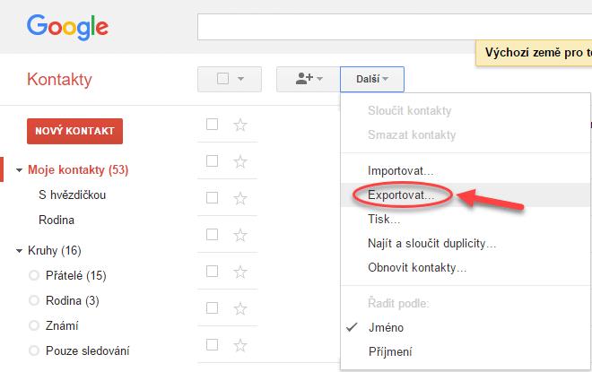 Migrace kontaktů a kalendáře z Google Apps do Office 365 - postup 4