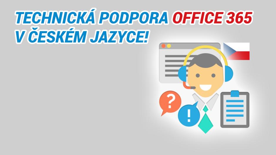 Technická podpora Office 365 v češtině
