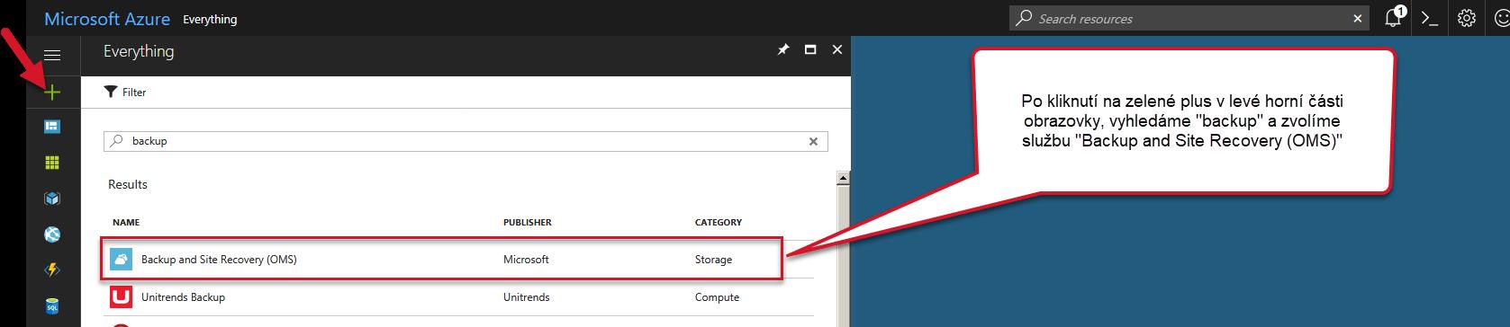 Azure - výběr služby