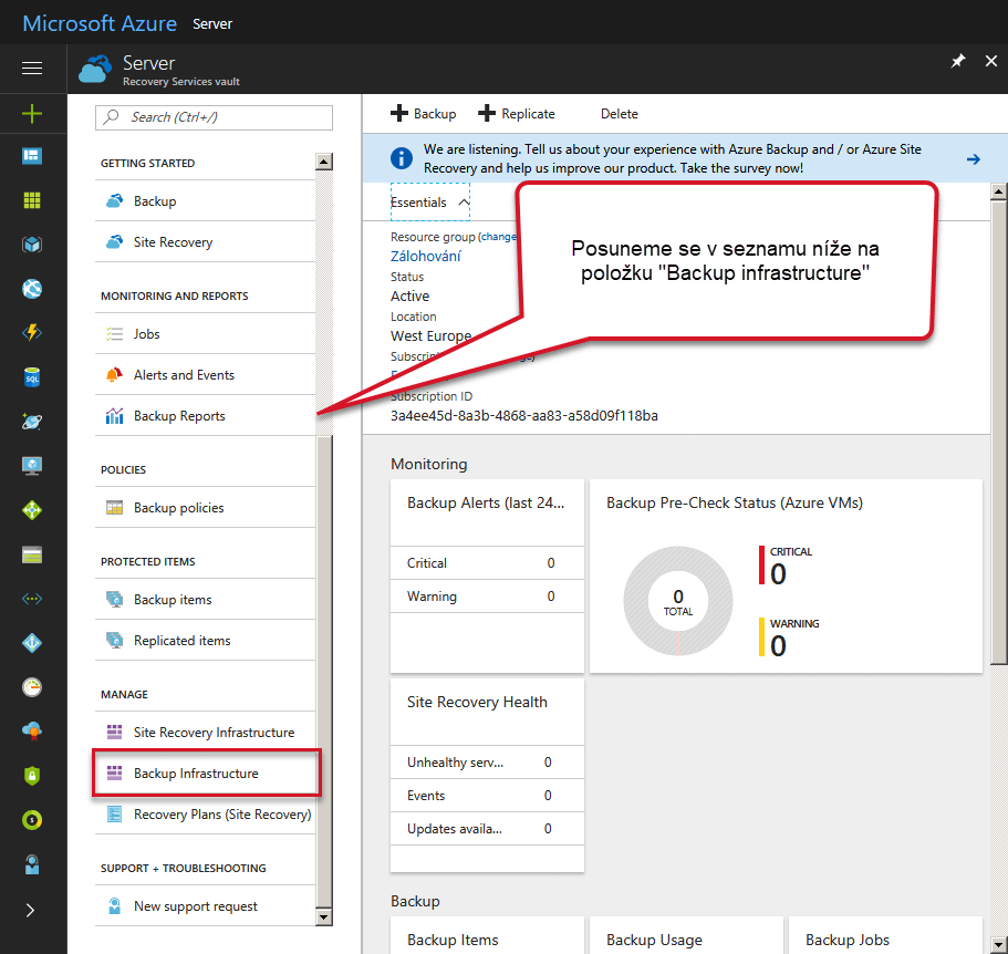 backup Infrastructure Azure