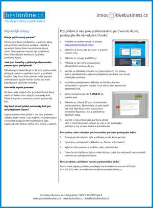 Návod na změnu partnera pro předplatné (POR) služeb Azure 2