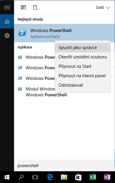 powershell ve windows 10 start