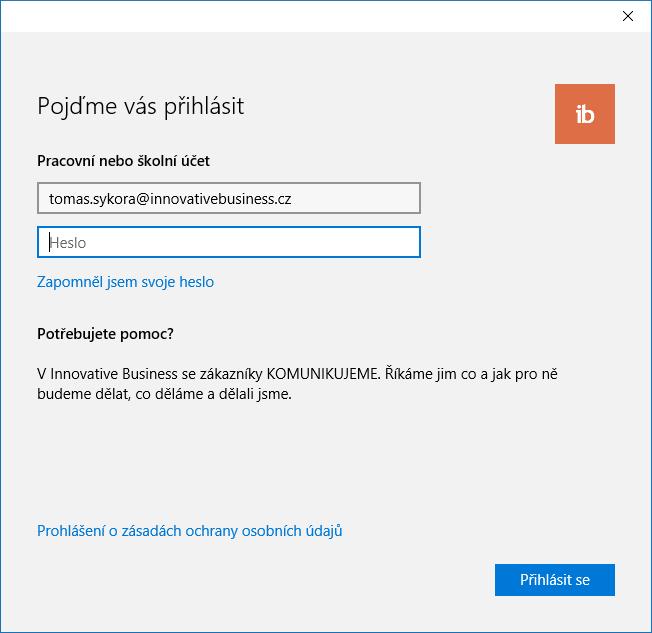 Jak přidat pracovní účet Office 365 do Windows 10 1