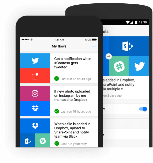 Microsoft Flow - mobilní aplikace