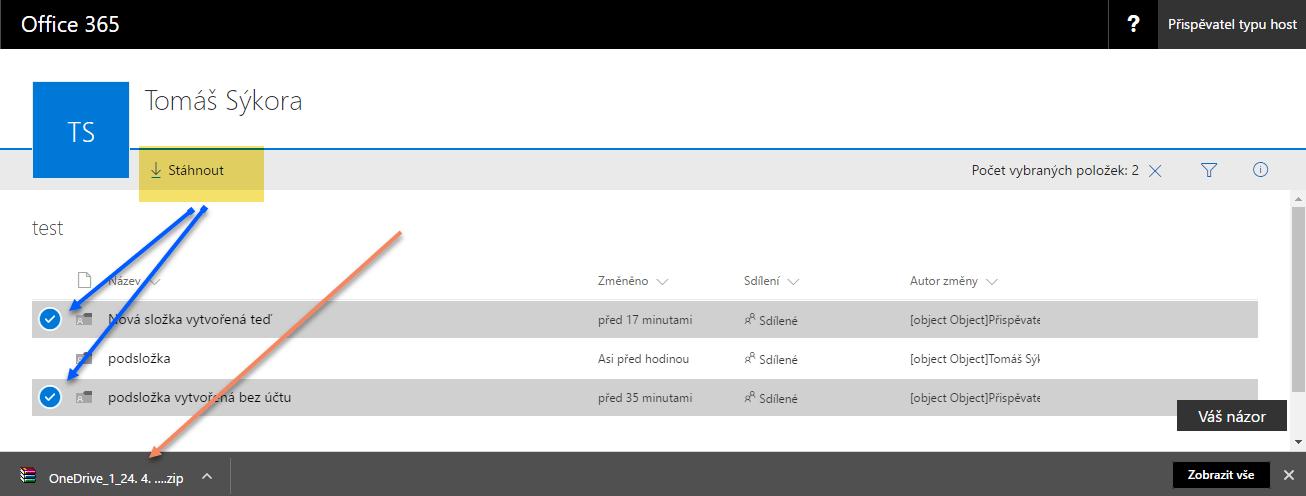 Jak nasdílet data z OneDrive pro firmy komukoliv 11