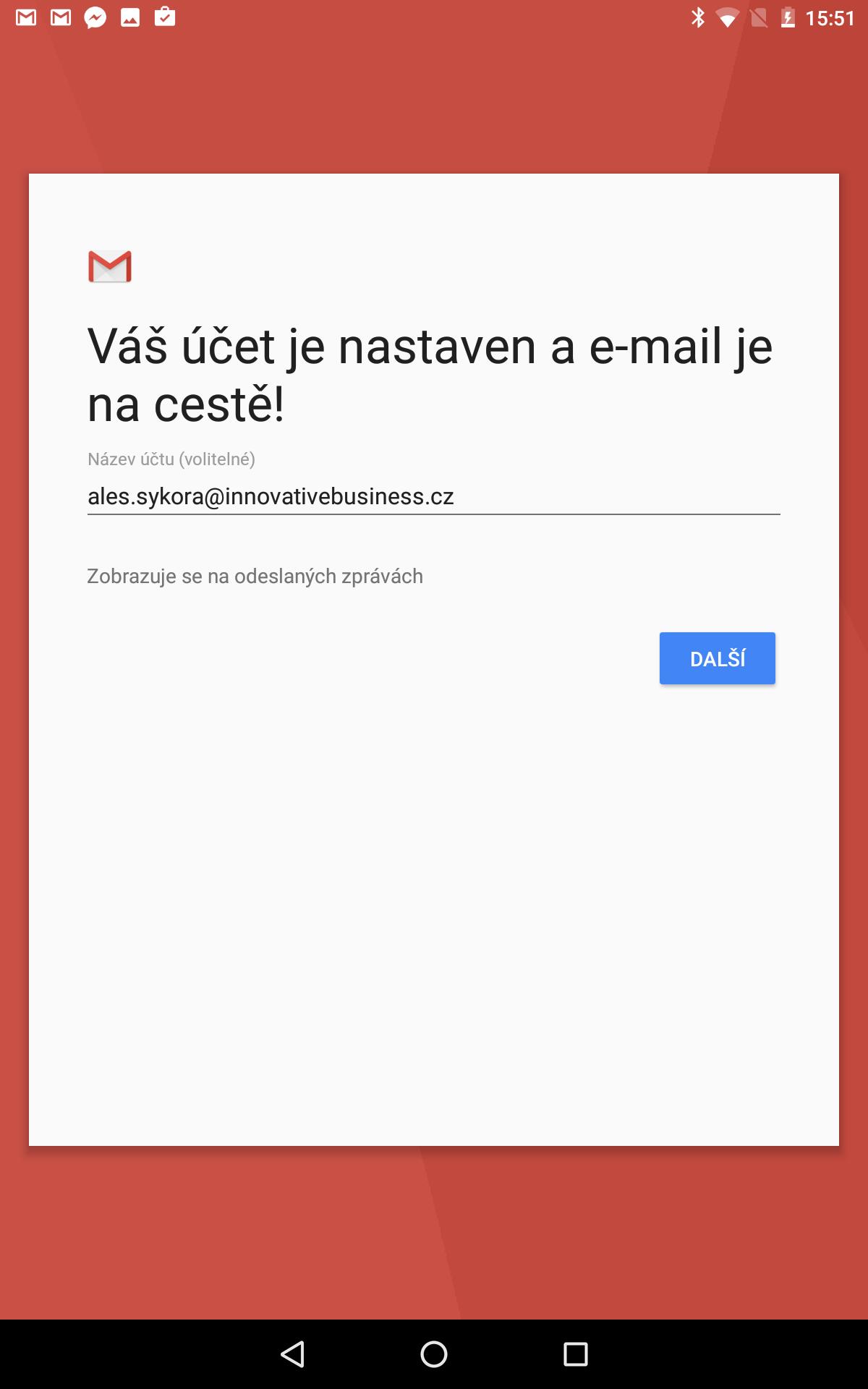 Nastavení synchronizace e-mailu Exchange Online v Androidu