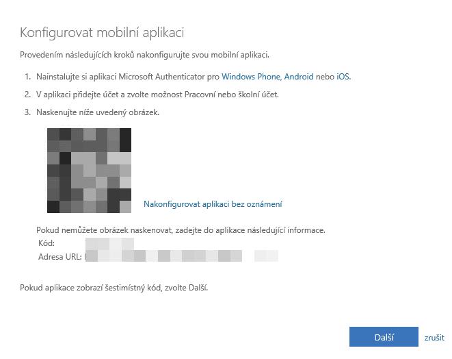 Vytvoření hesla aplikace pro Office 365 při dvoufázové autentifikaci 5