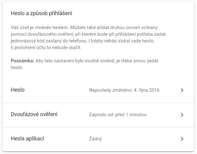 Jak přidat poštovní schránku Google do Outlooku 2016 9