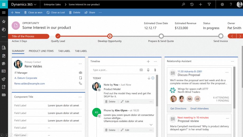 Microsoft Dynamics 365 for Sales 1