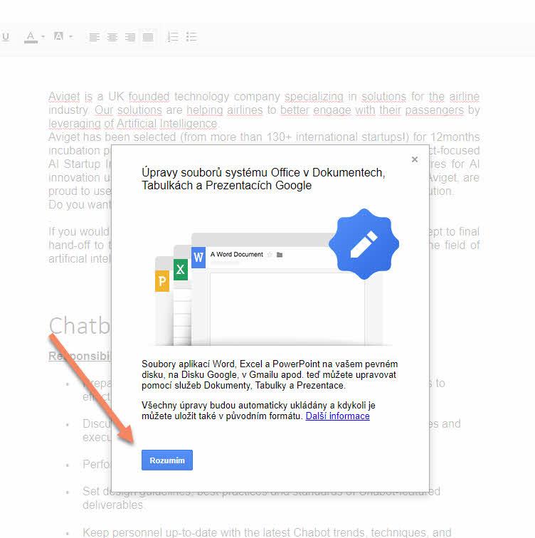 Otevírání dokumentů Microsoft Office online v prostředí Chromu - bez zbytečného vytváření duplicit v podobě formátu Google 3