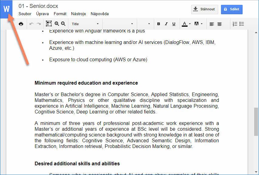 Otevírání dokumentů Microsoft Office online v prostředí Chromu - bez zbytečného vytváření duplicit v podobě formátu Google 5