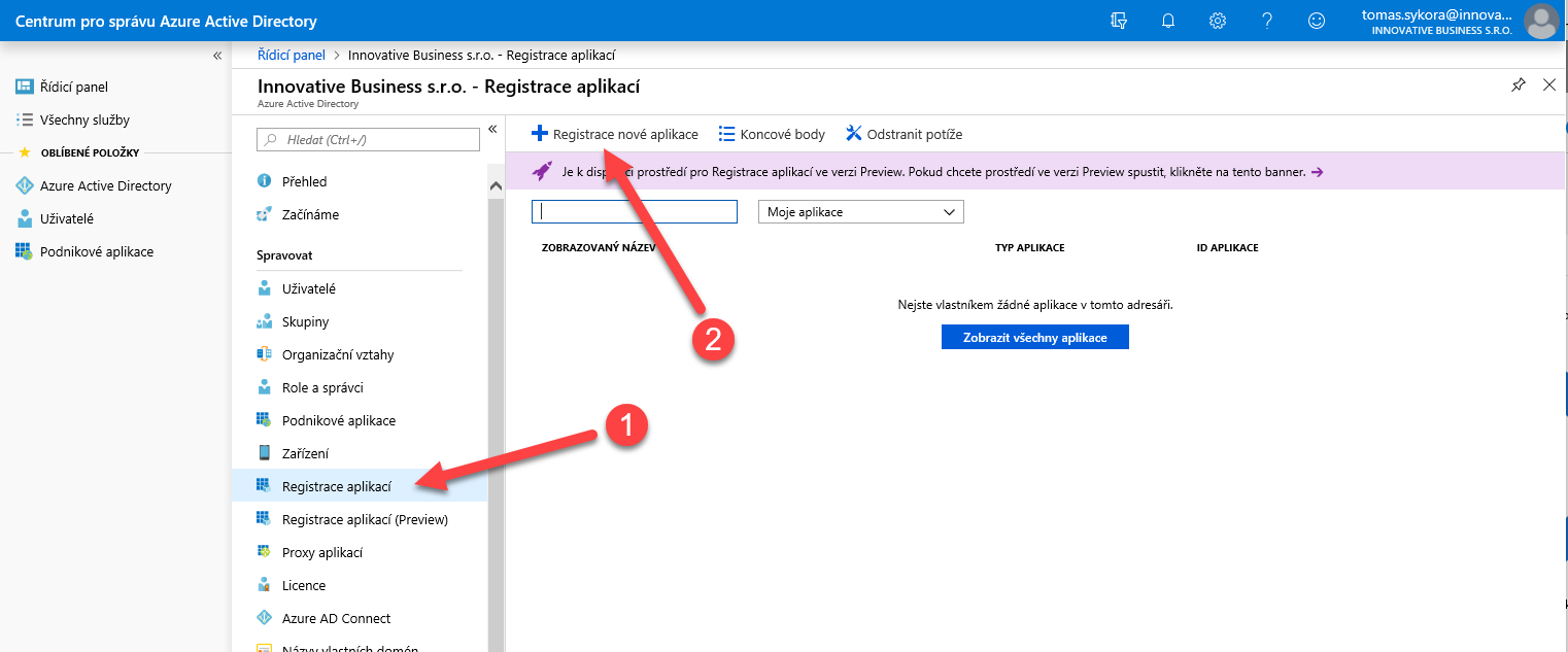 Nastavení SSO pro službu Requestor v Azure Active Directory (Office 365) 5