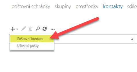 Jak do distribučního seznamu v Office 365 přidat externí kontakty 5
