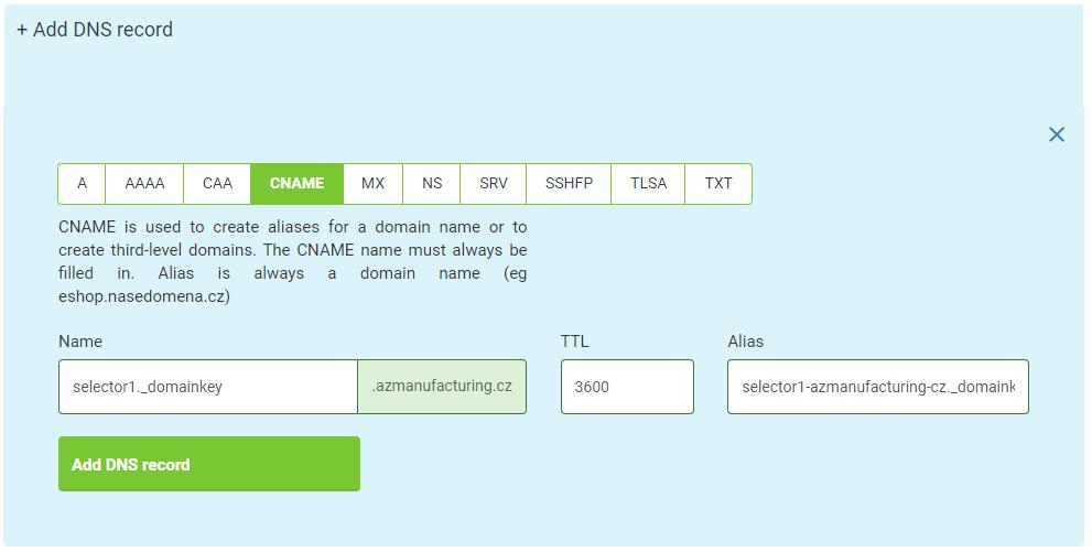 Nastavení DKIM selectorů pro Microsoft 365 u Active24.cz