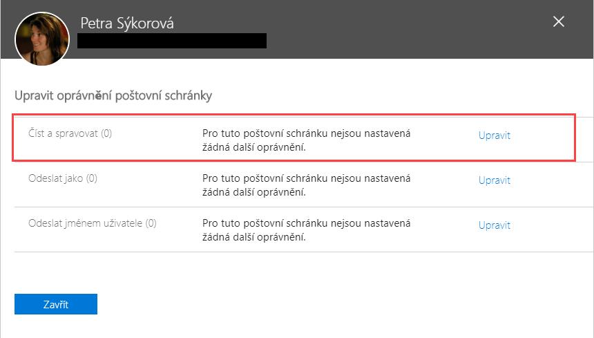 Delegace e-mailu v Office 365 - Číst