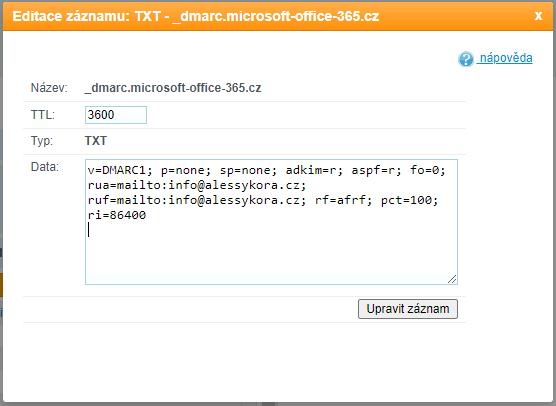 Ochrana e-mailů proti zneužití v Microsoft 365 (Office 365) Exchange Online pomocí DKIM, DMARC, SPF 15