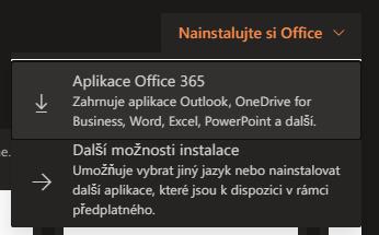 Stažení a instalace Office 365 3