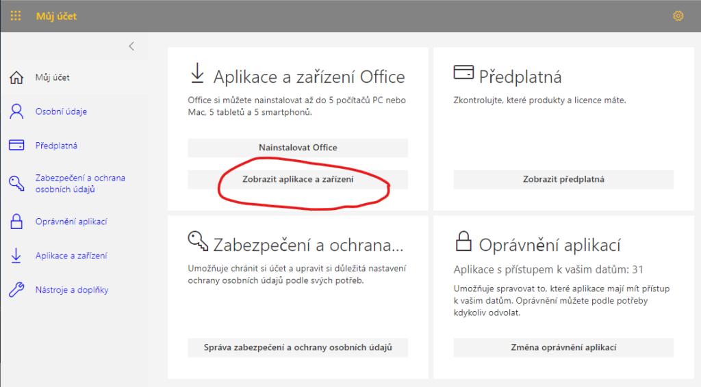 Stažení a instalace Office 365 5
