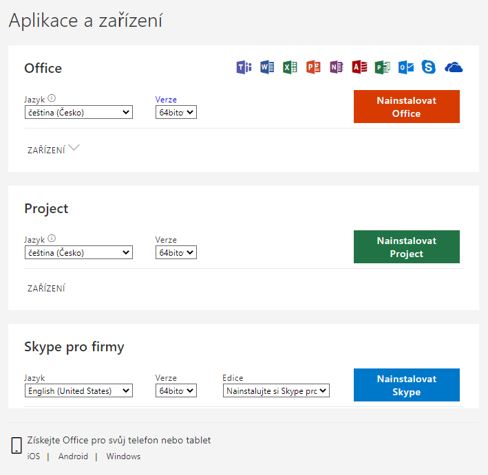 Stažení a instalace Office 365 7