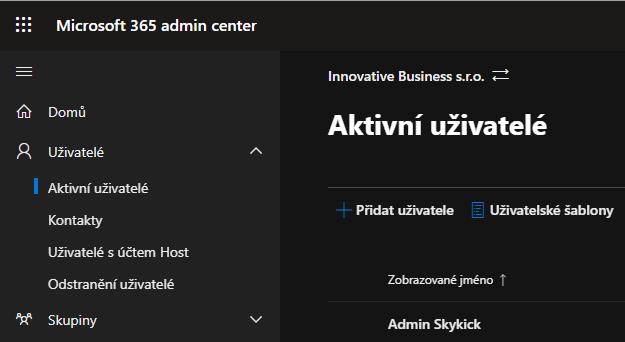 Jak vytvořit uživatele v Microsoft Office 365 2