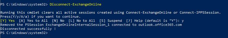 Disconnect-ExchangeOnline