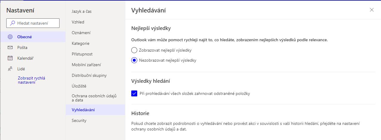 Jak vypnout nejlepší výsledky vyhledávání v Outlooku 3