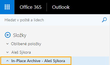 in place archive outlook web access