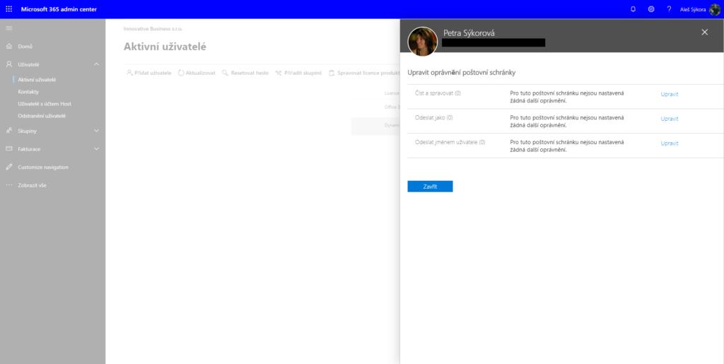 Nastavení delegace e-mailové schránky v administraci Office 365