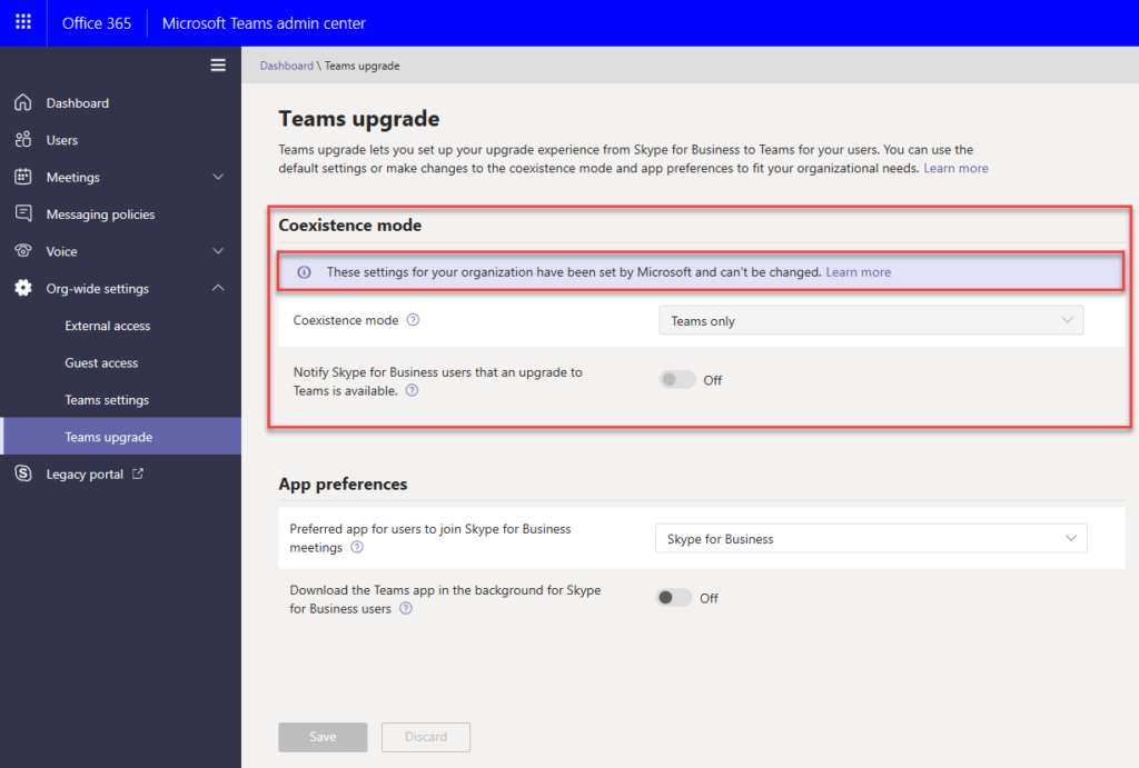 Microsoft Teams nastavení koexistence se Skype pro Firmy
